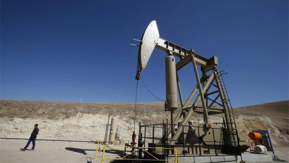 Oil drill in California