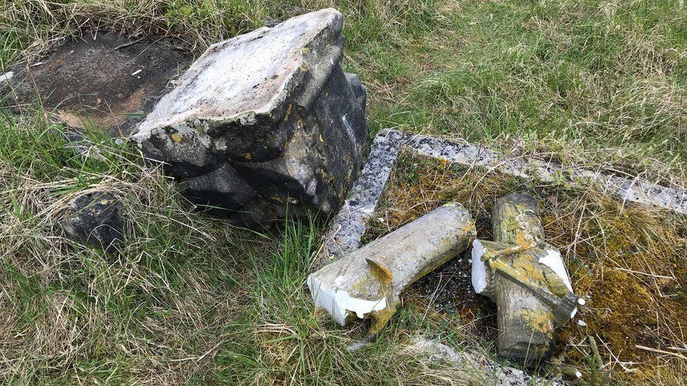Headstone vandalised