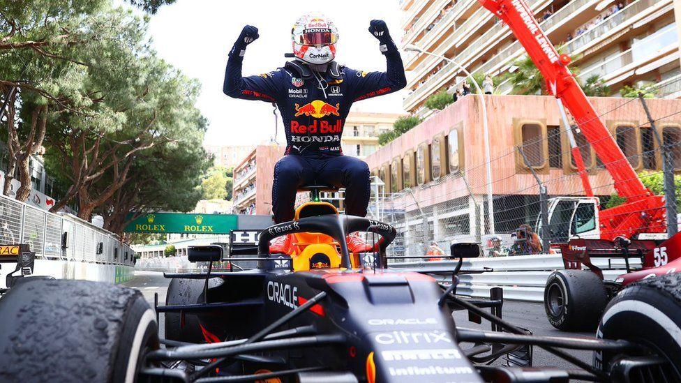 Max Verstappen winning the Monaco Grand Prix