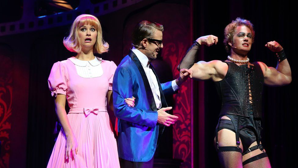 Christie Whelan Brown (L) and Craig McLachlan (R) in a Rocky Horror production