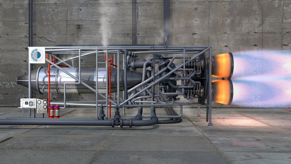 Computer generated image of ground-based SABRE test engine.