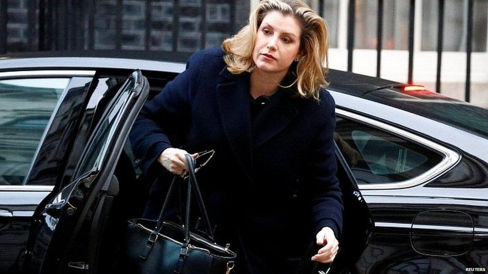 International Development Secretary Penny Mordaunt arriving at Downing Street