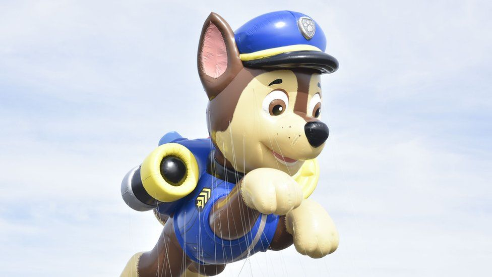 A giant Paw Patrol character balloon in 2017