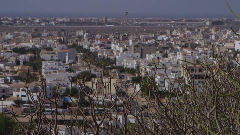 Ouakam, the neighbourhood where Hissene Habre has been living in Dakar.