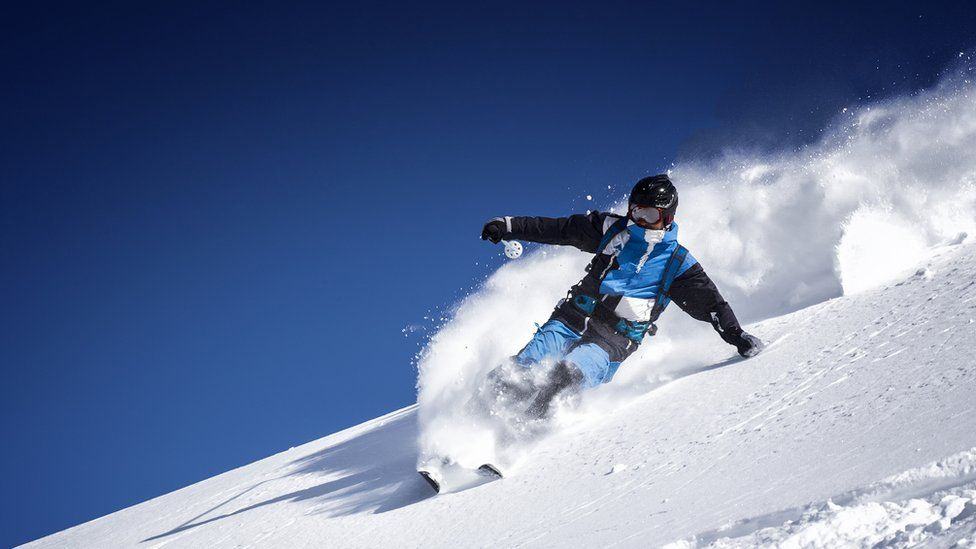 A person skiiing