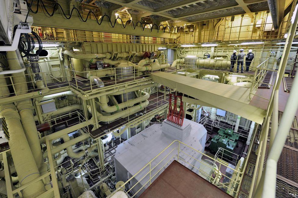 Akademik Lomonosov interior, 12 Apr 19