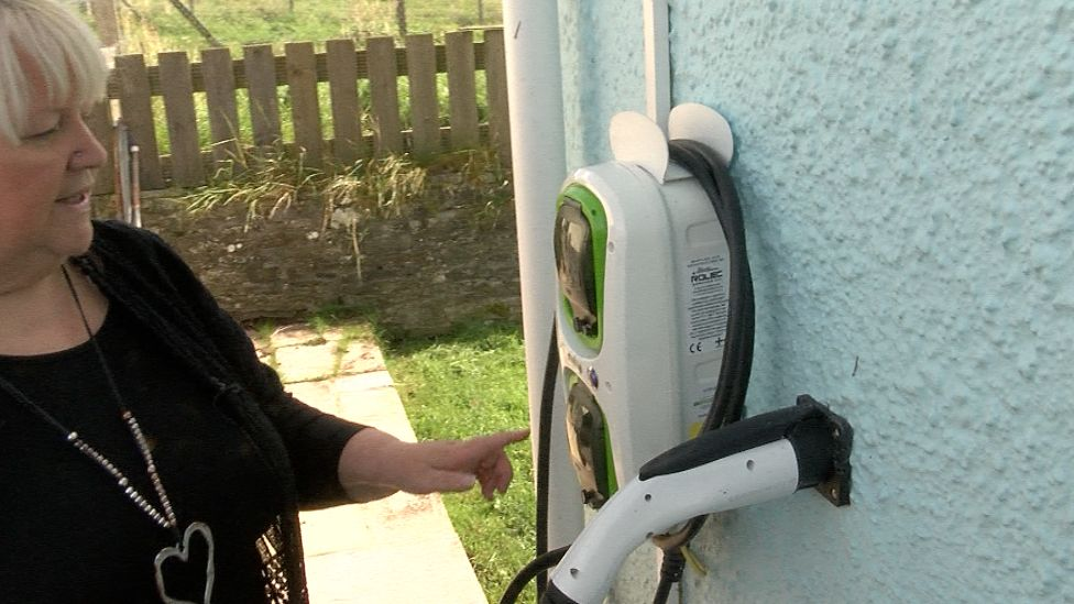 Lynne Colston with her electric charger