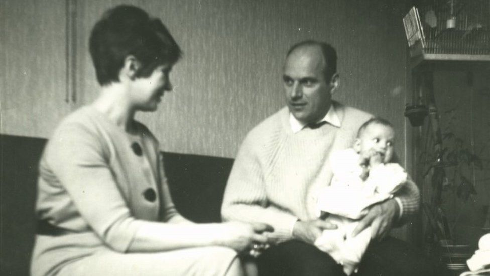 Astrid in 1966 with Stien and Willem Sr