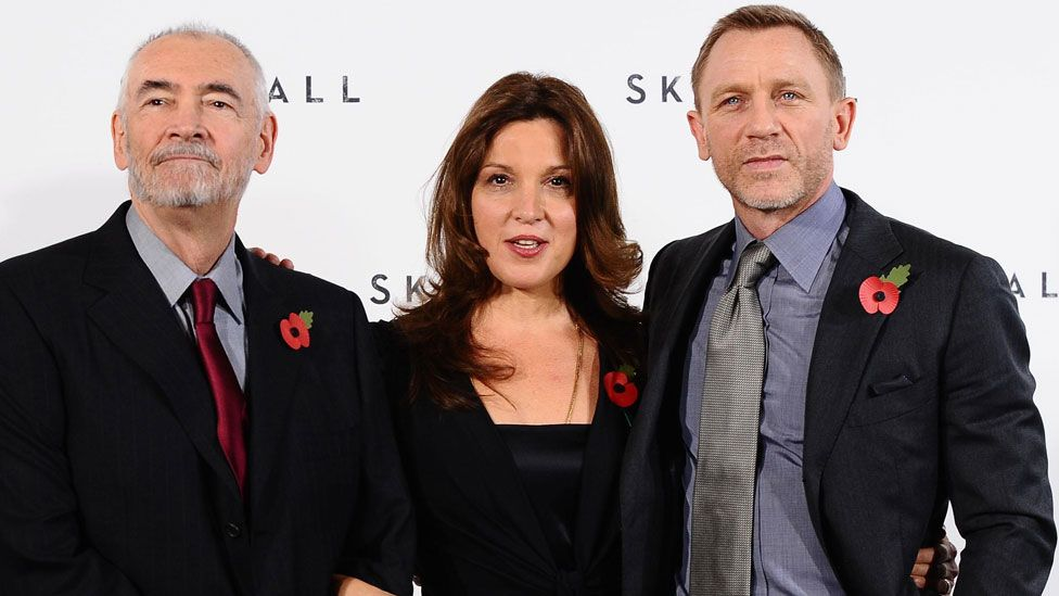 Michael G Wilson and Barbara Broccoli with Daniel Craig