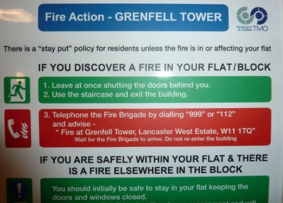 Grenfell tower fire sign