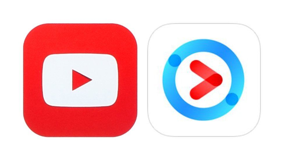 YouTube and Youku logos