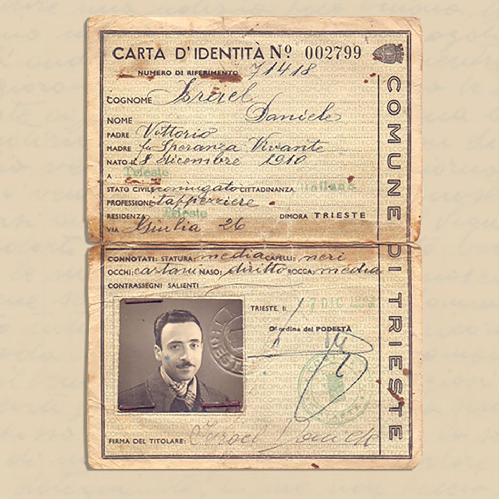 Daniele Israel's identity document