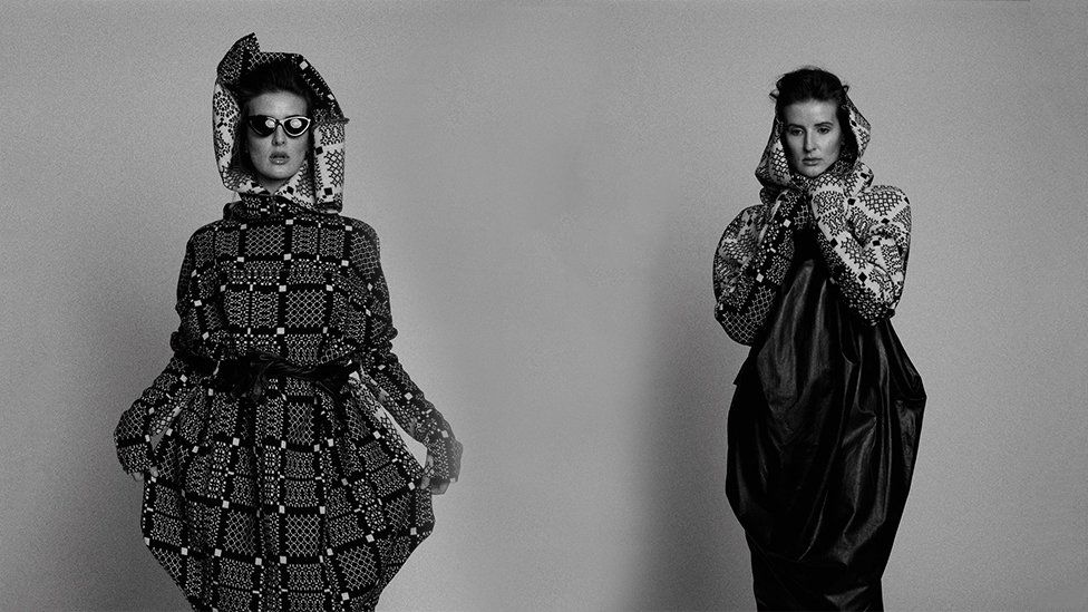 Jayne Pierson's designs in Vogue shoot