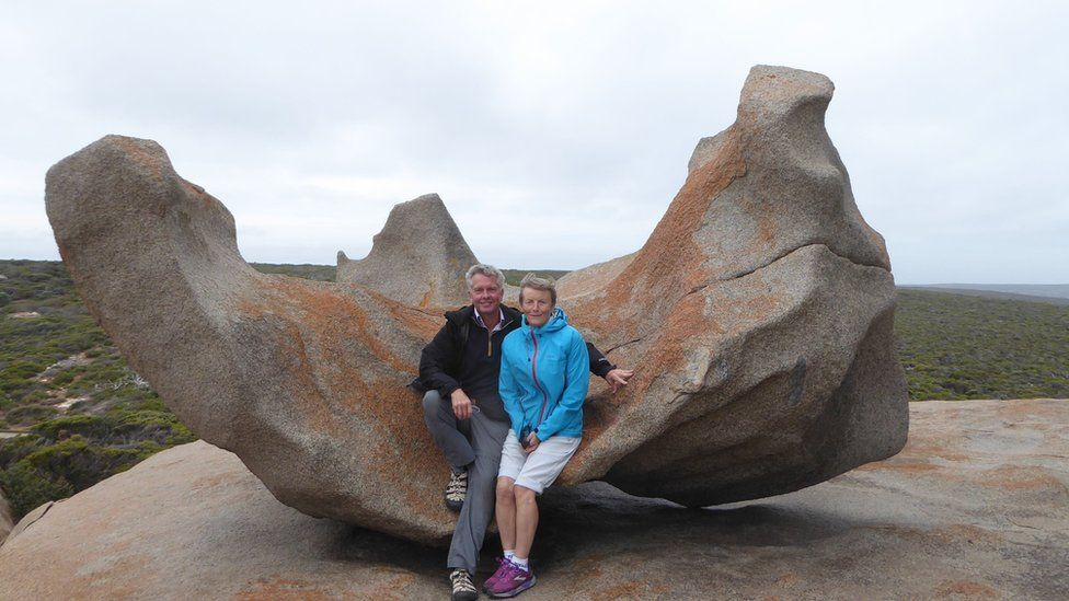 Dr Stigglebout and his wife, Lorna, at a tourist attraction