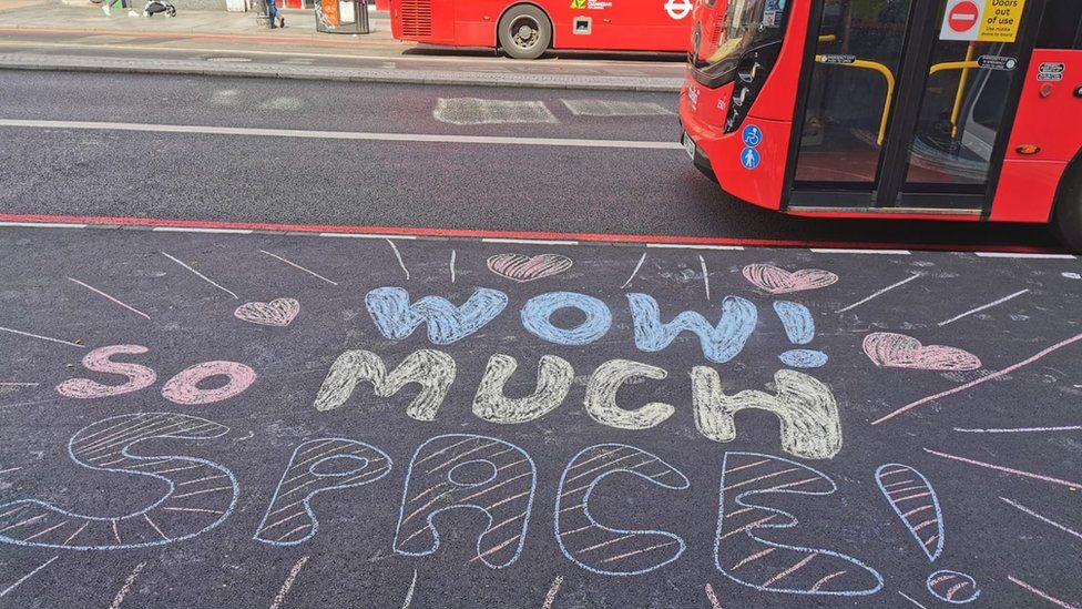 Widened pavements in London this week were welcomed by a walking campaign group and residents