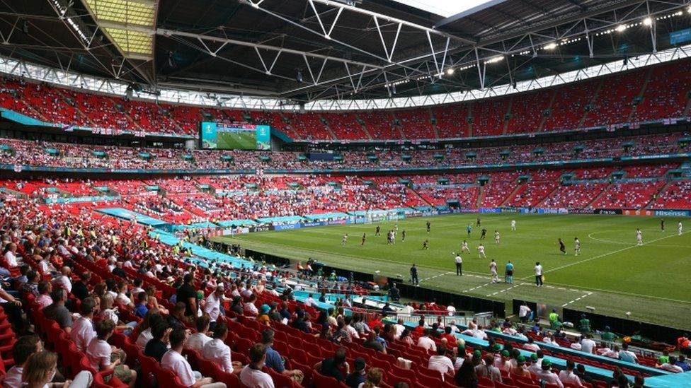 Fans inside the stadium