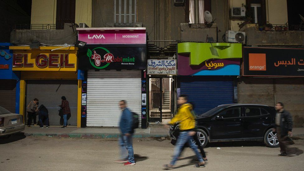 Closed shops in Cairo