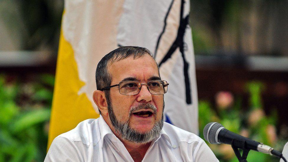 Rodrigo Londono, aka Timochenko - leader of Colombia's rebel group FARC