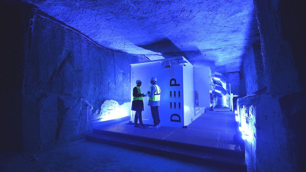 A underground data centre in France