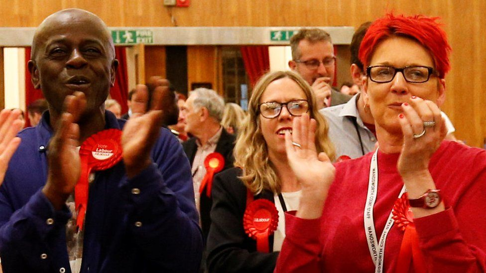 Labour supporters in Wandsworth