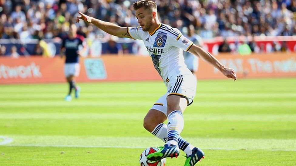 Robbie Rogers playing for LA Galaxy