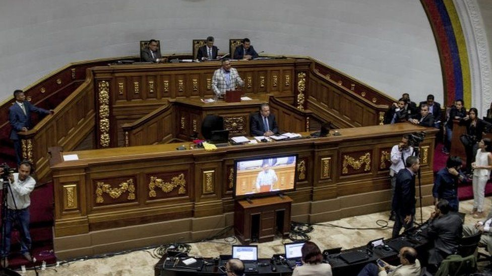 Lawmakers hold an emergency session in Caracas, Venezuela. Photo: 25 October 2016