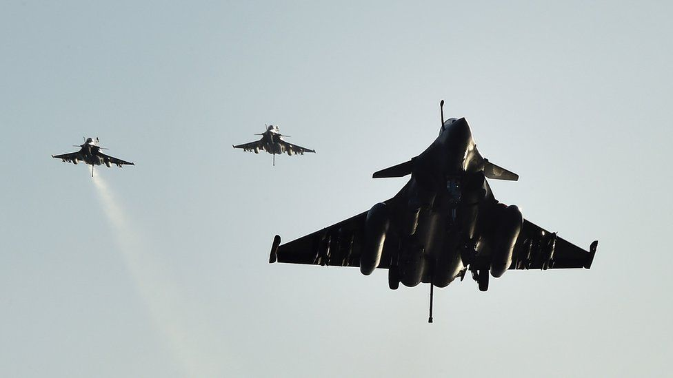 French Rafale fighter aircraft