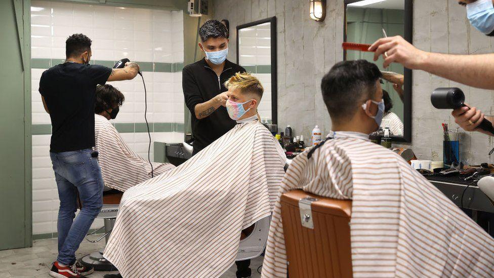A barbers in London