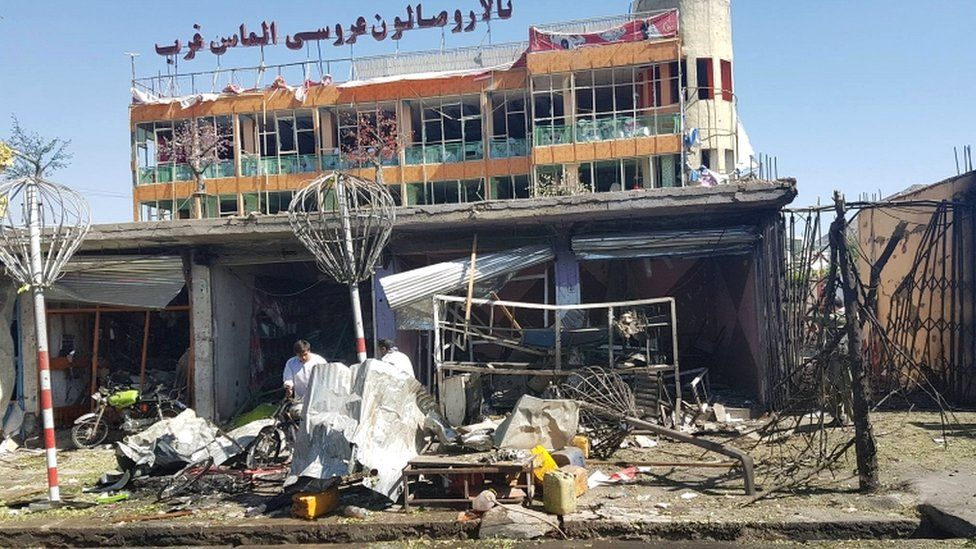 The blast struck a mainly Shia district in the west of the city