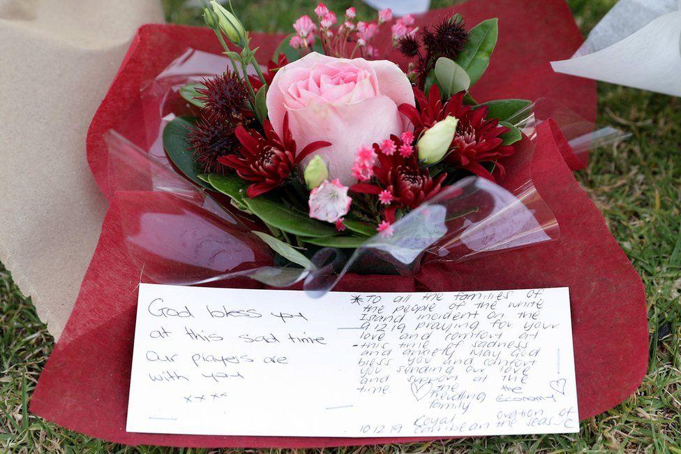 Tribute flowers