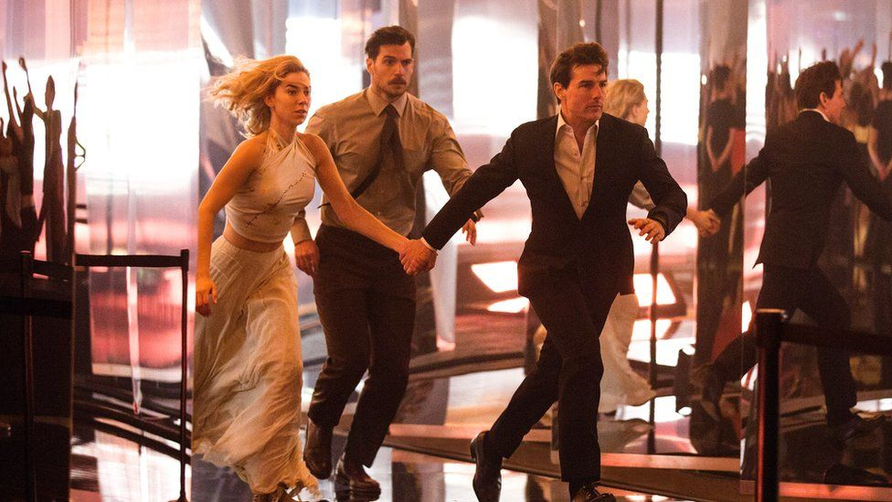 Left to right: Vanessa Kirby, Henry Cavill and Tom Cruise