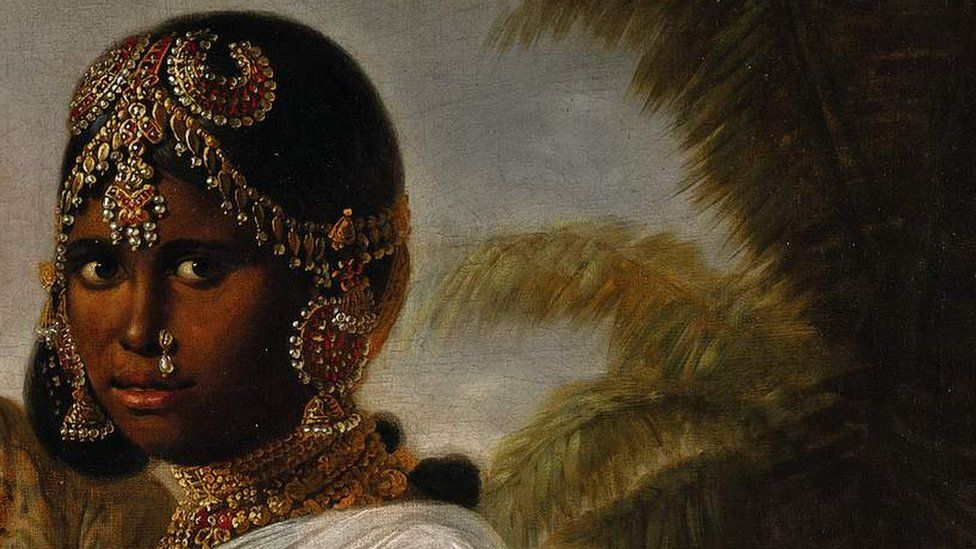 A portrait showing the woman Dr Chancellor believes to be the young Wadiyar queen.