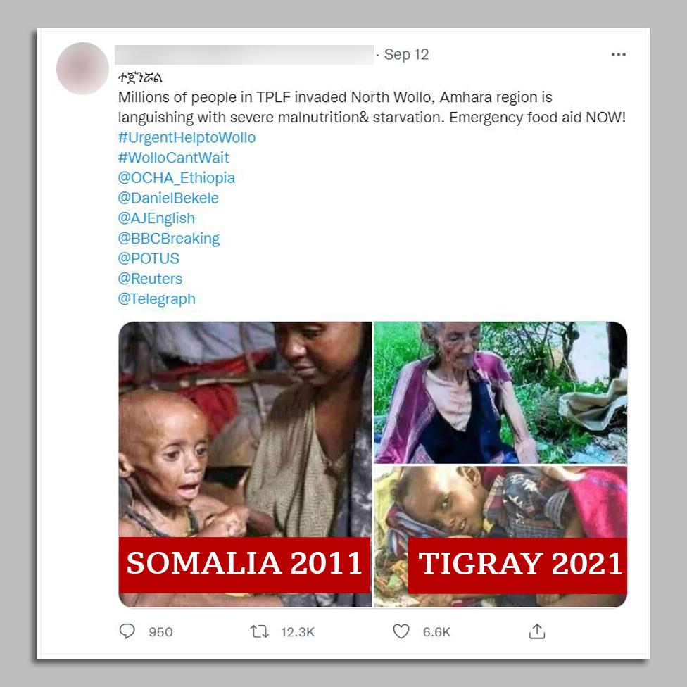 Säutsu ekraanipilt koos Somaalia ja Tigray pildiga