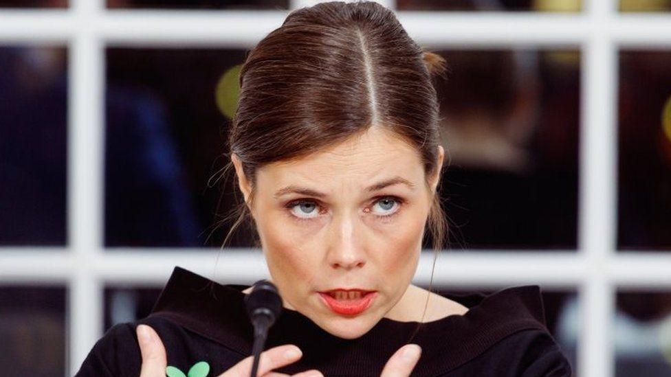 Katrín Jakobsdóttir at a press conference in Reykjavik. Photo: 30 November 2017