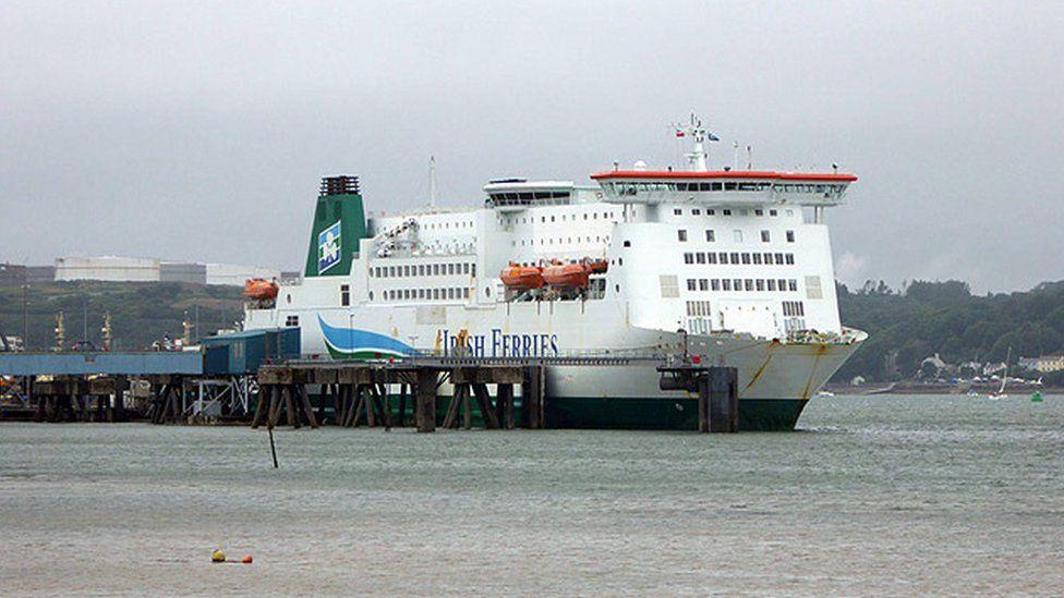 Irish Ferries service in Pembroke Dock