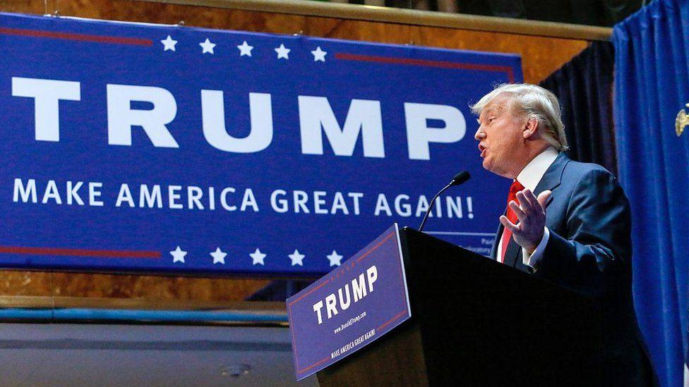 Donald Trump announces his bid for the presidency