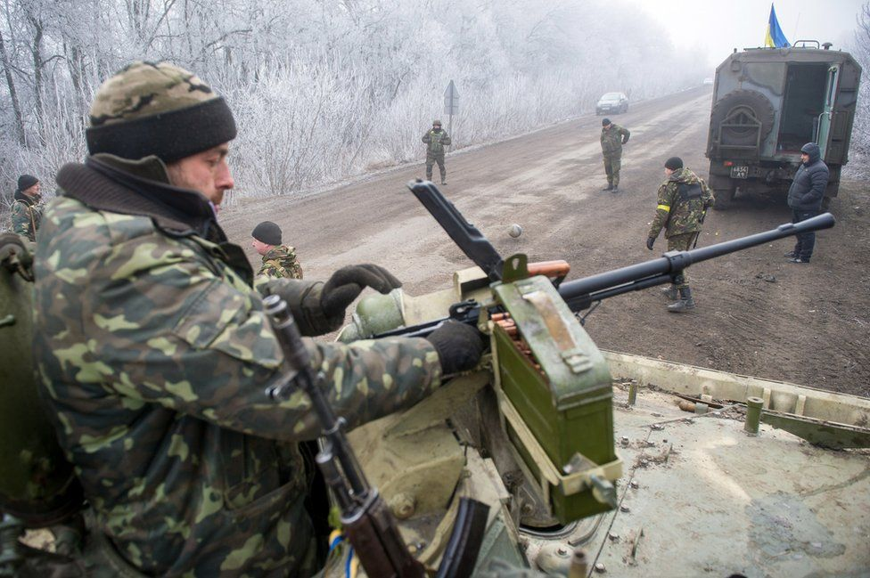 Ukrainian government troops near Debaltseve - file pic
