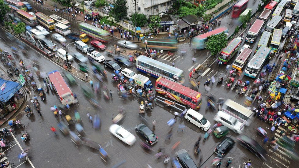 Unplanned urbanisation in Dhaka