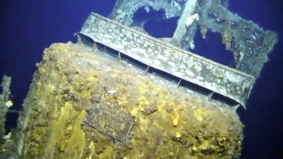 The recovered USS Grayback