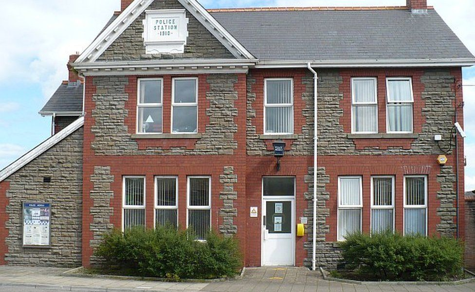 The police station in Bedwas