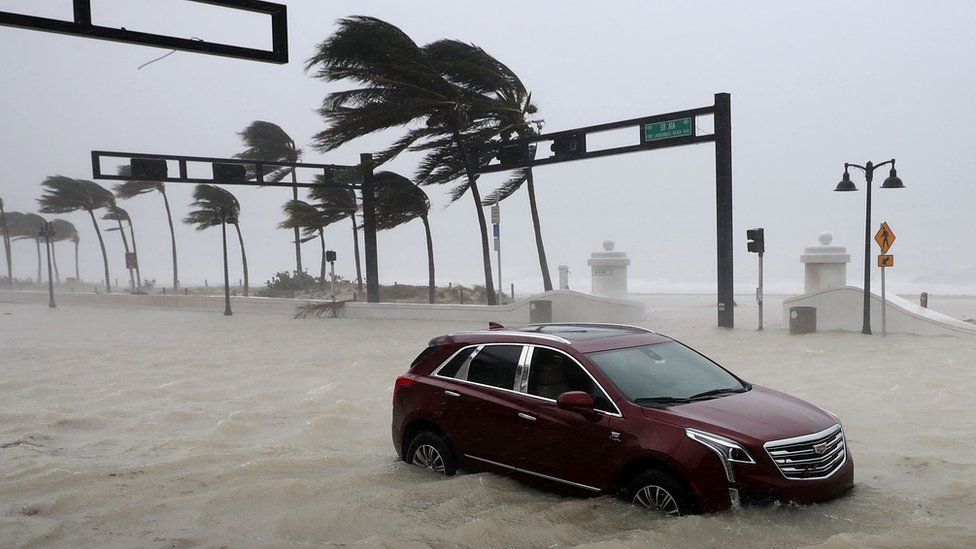 Hurricane Irma hits Fort Lauderdale, Florida