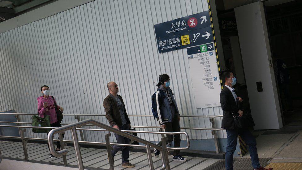 港铁大学站东侧进站口(6/1/2020)