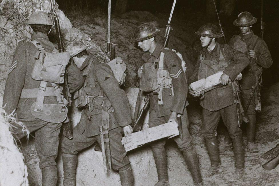 British troops on night raid