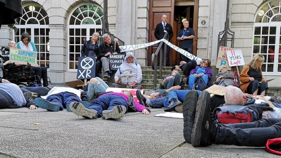 Extinction Rebellion protest in Leeds