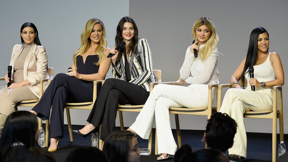 Kardashian sisters at web developer event in Apple Store New York in 2015