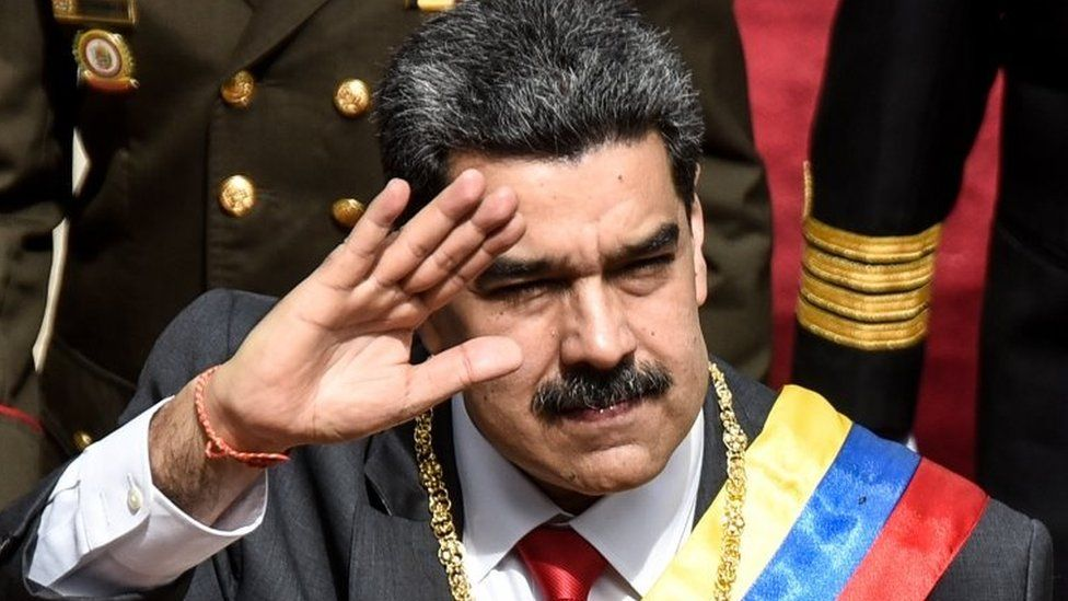 President of Venezuela Nicolas Maduro arrives at the National Constituent Assembly on January 14, 2020 in Caracas, Venezuela.
