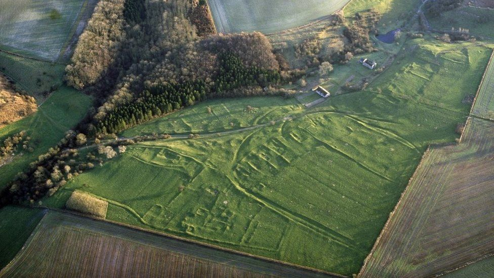 Aerial view of Wharram Percy
