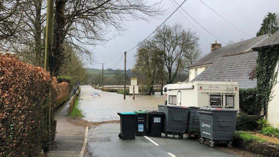 Flooding at Peterston-super-Ely