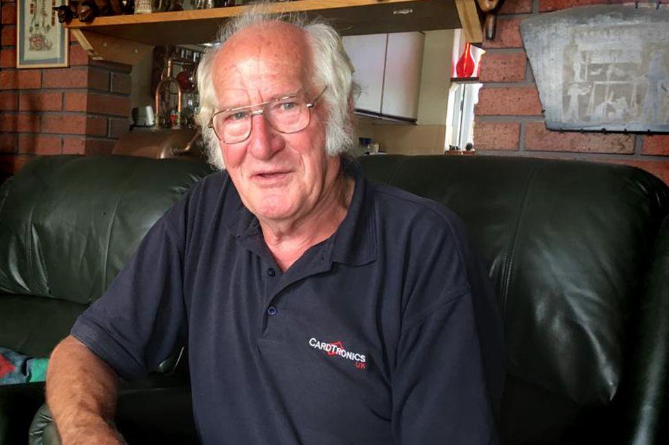 Theo Van Eijck at home in Somerset