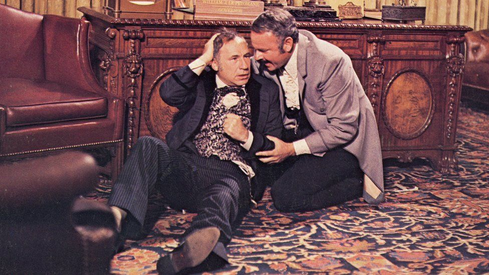 Mel Brooks (left) and Harvey Korman in Blazing Saddles